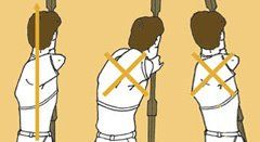 If your posture is incorrect, you will not be able to find your anchor points and thus be unable to aim properly.
