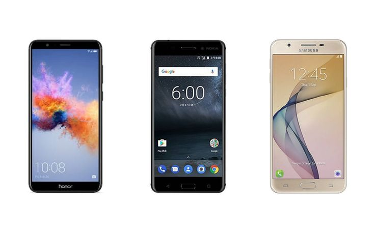Nokia 6 vs. Honor 7X vs. Samsung Galaxy J7 Prime: Price in India Specifications Features Compared