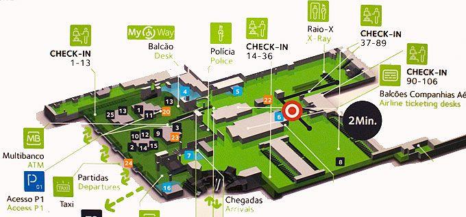Lisbon Airport map