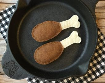 play food felt steak felt play food dramatic play by MyrasKitchen