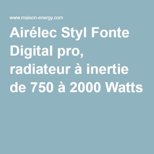Airélec Styl Fonte Digital pro, radiateur à inertie de 750 à 2000 Watts