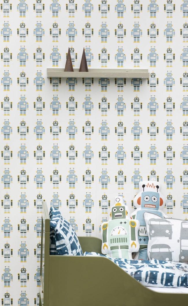 Ferm Living robot behang