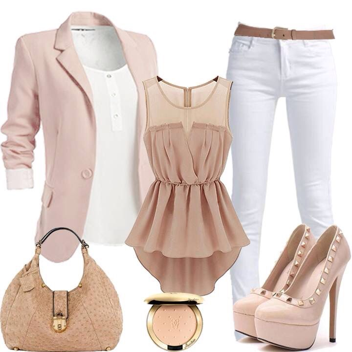 Maybe not in the pink tones but I like this overall look!!