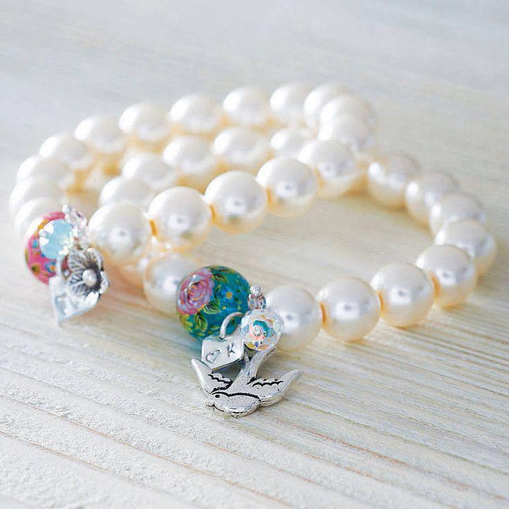 Handmade Silver Initial Pearl Bracelet from notonthehighstreet.com
