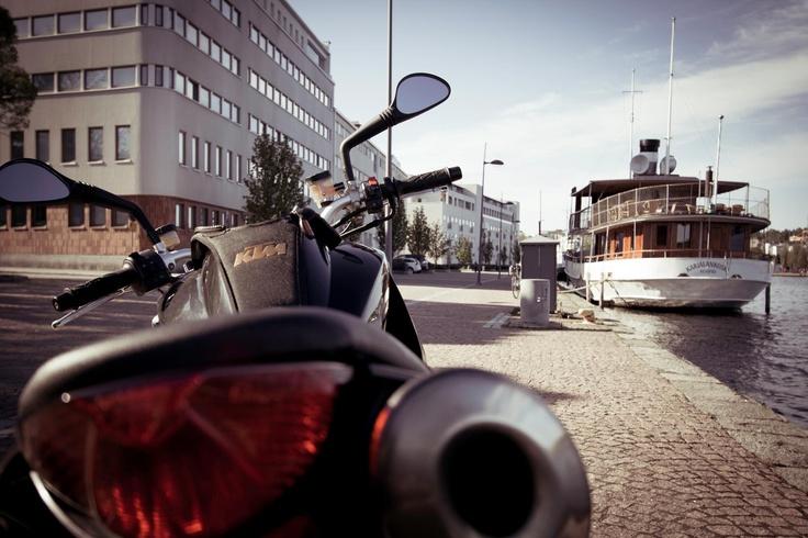 KTM bike in Kuopio harbor.