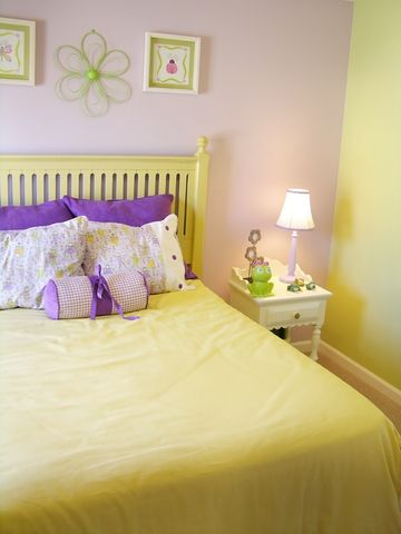 bedding yellow girls rooms yellow bedrooms ideas purple wall stencil