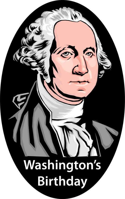 All about Washington's Birthday, President's Day and clip art for the occasions.