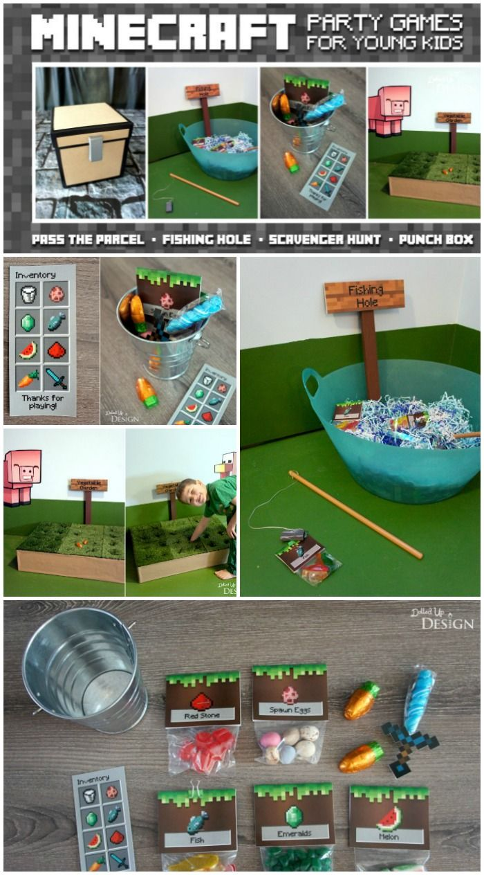 Minecraft Party Games For Kids - lots of fun DIY birthday party game ideas!