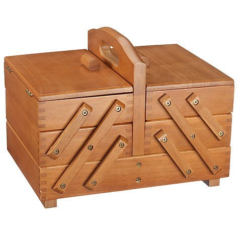 Buy Cantilever Wood Sewing Box, Small Online at johnlewis.com