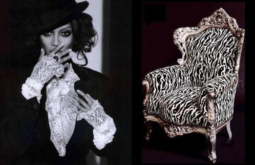 Barok Fauteuil Zebra