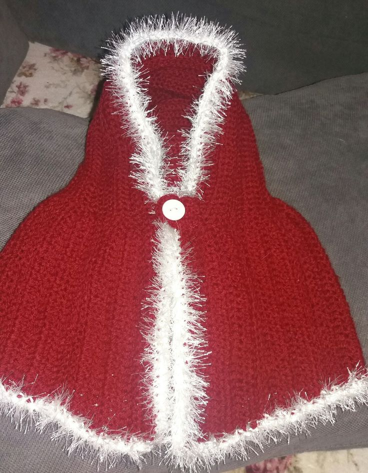 Crochet baby cape