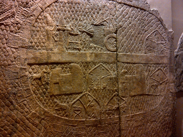 The oldest campsite ever. Siege camp at Lachish. Assyrian Palace. British Museum