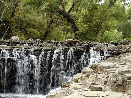 Beautiful waterfall in Richardson Texas