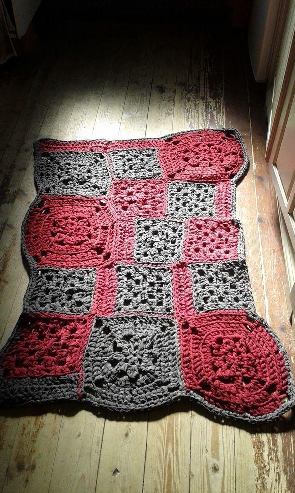 tappeto crochet nuovo fatto a mano lycra 2/handmade carpet