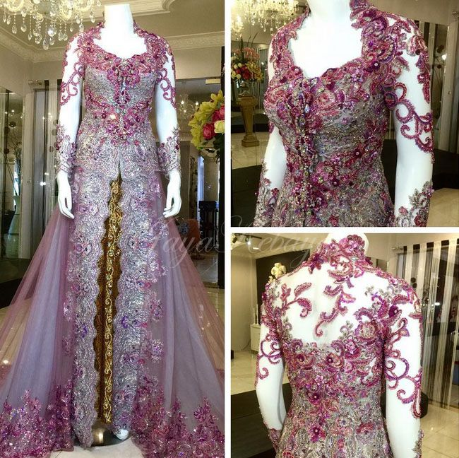 wedding kebaya silver