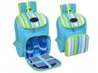 Striped 600D Polyester Backpack with Handle, Side Pocket and Cooler Bag Compartment www.ccpromos.co.za