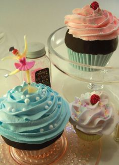 Fake cupcake tutorial that I finally found that worked. #cupcakes #crafts #tutorial                                                                                                                                                                                 More