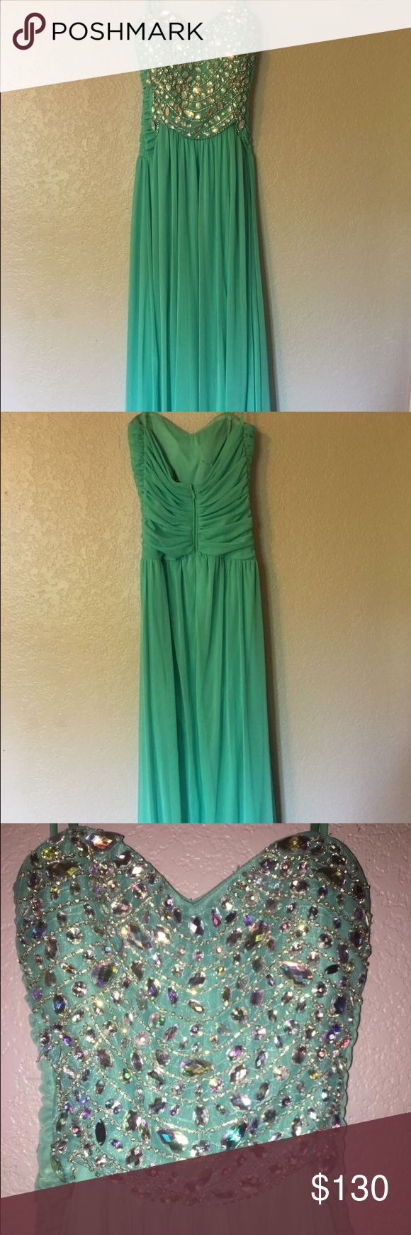 Prom Dress Long baby blue prom dress only worn once! Great condition. SIZE 9 Dresses Prom