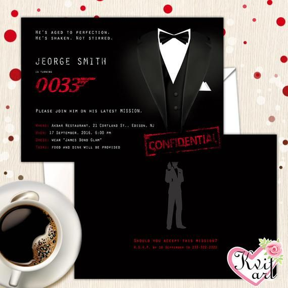 James Bond 007 Theme Birthday Card Geburtstagskarte Basteln Bond