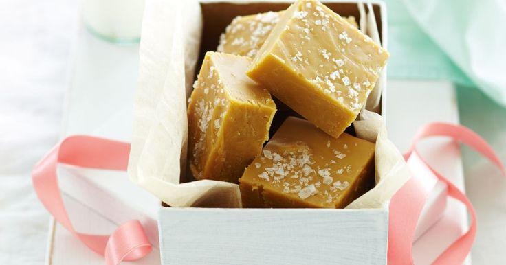 Irresistible bits of fun beckon with this salted caramel fudge.