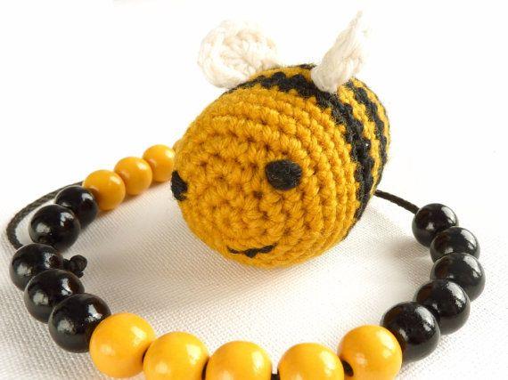 Rechenkette Biene BIO Rechenhilfe für den Schulanfang von maschenkreisel, €16.00