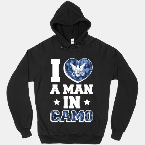 I Love a Man in Camo (navy)