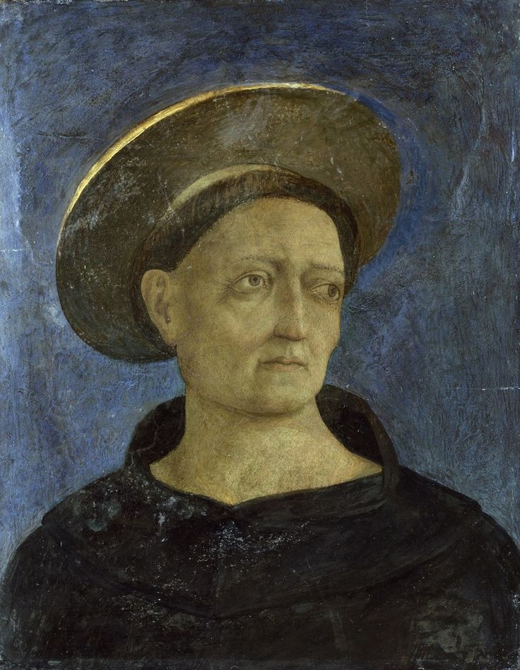 Блог Николая Подосокорского 21+ - Британская Национальная галерея (National Gallery, London).  Domenico Veneziano - Head of a Tonsured, Beardless Saint.