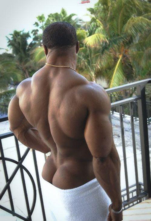 butt black muscle man big