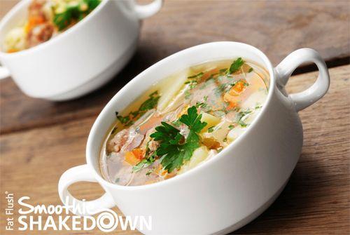 Mediterranean Soup- Official Fat Flush Smoothie Shakedown Recipe