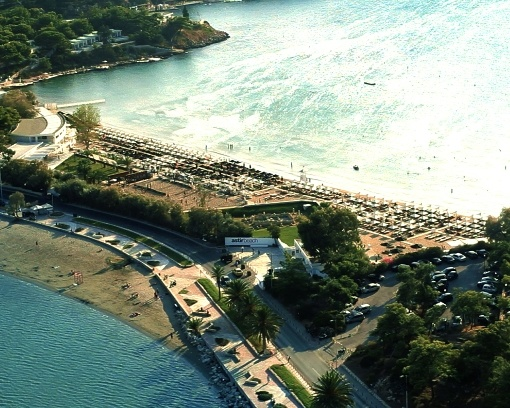 The coastal road leading to the private peninsula Astir Palace Resort (www.astir-palace.com) and the area known as 'Laimos', pass by the beautiful Astir Beach (www.astir-beach.com) and the public beach of Vouliagmeni.