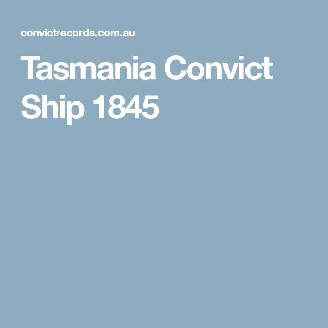Tasmania Convict Ship 1845