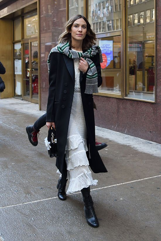 Alexa Chung at New York Fashion Week Fall 2017