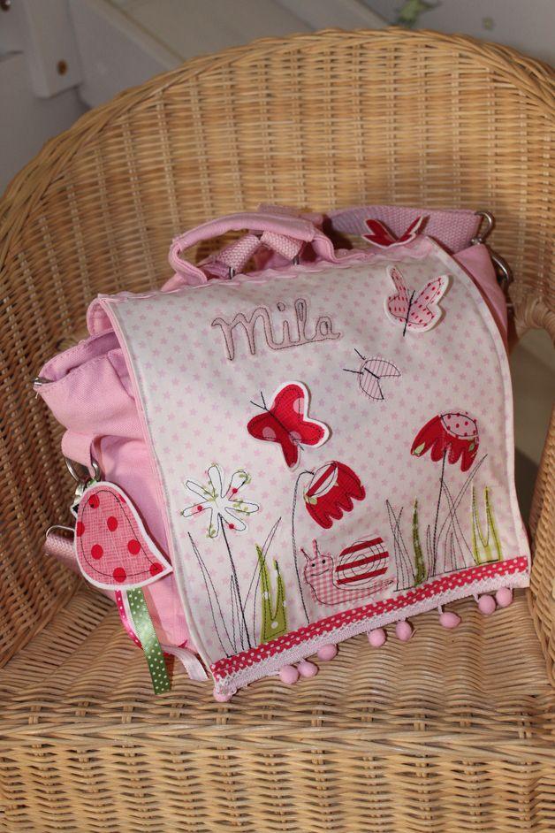 """Rucksäcke - Kindergartenrucksack """"Sommerblumenwiese"""" NEU!! - ein Designerstück von milla-louise bei DaWanda"""