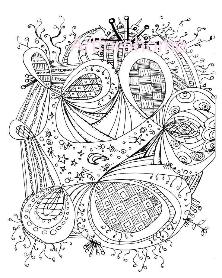 Image Detail For Zentangle Coloring Page Printable Download PDF Or JPEG