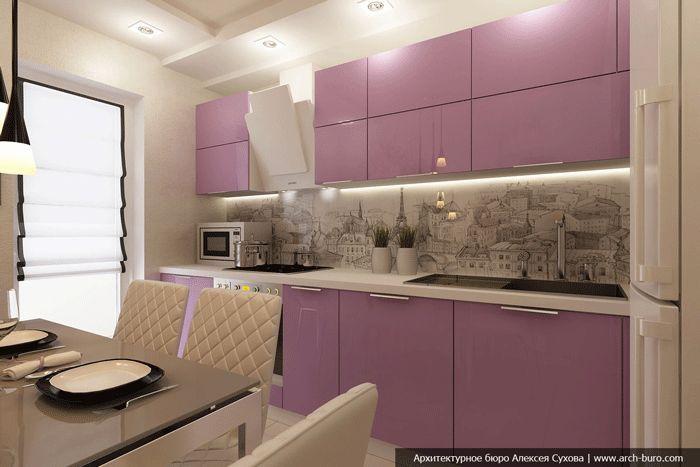 Кухня 9 квадратных метров довольно небольшое пространство. И сделать красивый ремонт на такой кухне нелегкая задача. К счастью бюро Arch-buro предлагает нам один вариант оформления кухни с балконом.  В интерьере кухни преобладает белый цвет. Чтобы немного разнообразить пространство, в интерьере кухни использовались фотообои с рисунком Эйфелевой башни. Рисунок с парижскими пейзажами повторяется и … … Читать далее →