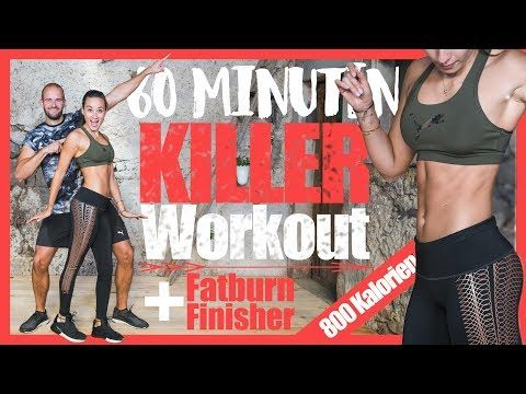 60 Minuten HIIT HOME WORKOUT - 800 KALORIEN verbrennen - Muskeln aufbauen und Fett verbrennen - YouTube