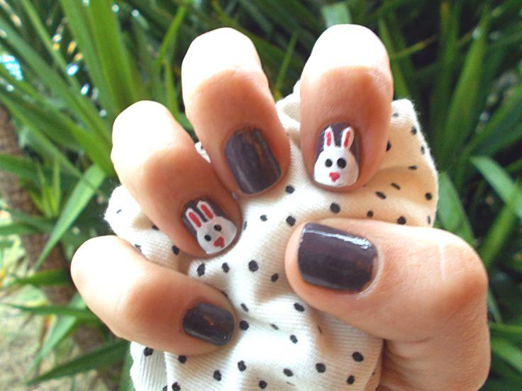 Rabits nail by me  Nail Art.