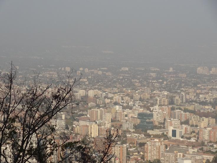 * Vista de Santiago desde el Cerro San Cristóbal