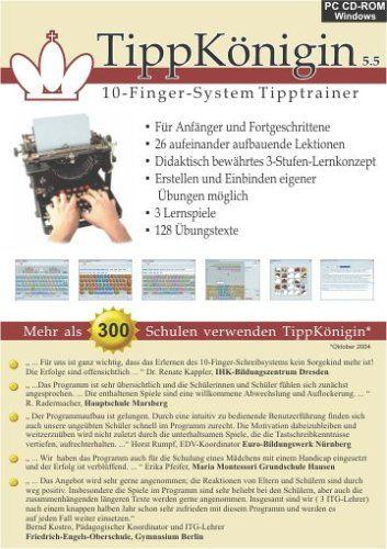 TippKönigin - 10-Finger-System Tipptrainer der neuen Generation: Amazon.de: Software