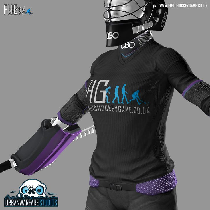 Our 3D artist has now completed the female field hockey goalkeeper model