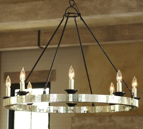 Parson mirrored chandelier pottery barn