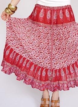 Vintage 1970s gauze Indian hippie skirt at www.secondhandnew.nl