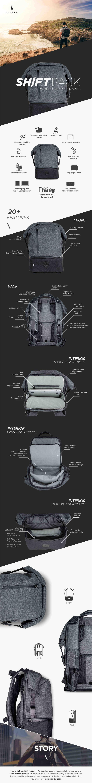 Shift Pack ( ALPAKA ) on Kickstarter. Campaign page design by Benny Yap