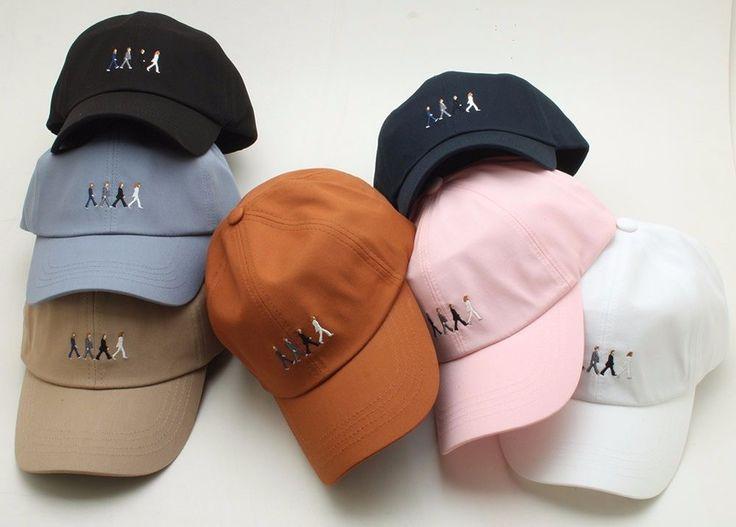 beatles baseball hat abbey road embroidery design casual fashion cap