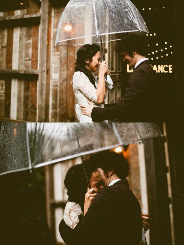 These first look pics aren't making us cry,  it's just the rain | image by Andria Lindquist