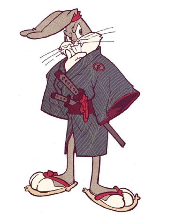 Because it isn't always SRS BZNS... Looney Samurai Tunes! Fan artist reimagines the classic cartoon characters in feudal Japan