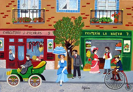 Village Shops by Maria Julia Fraile