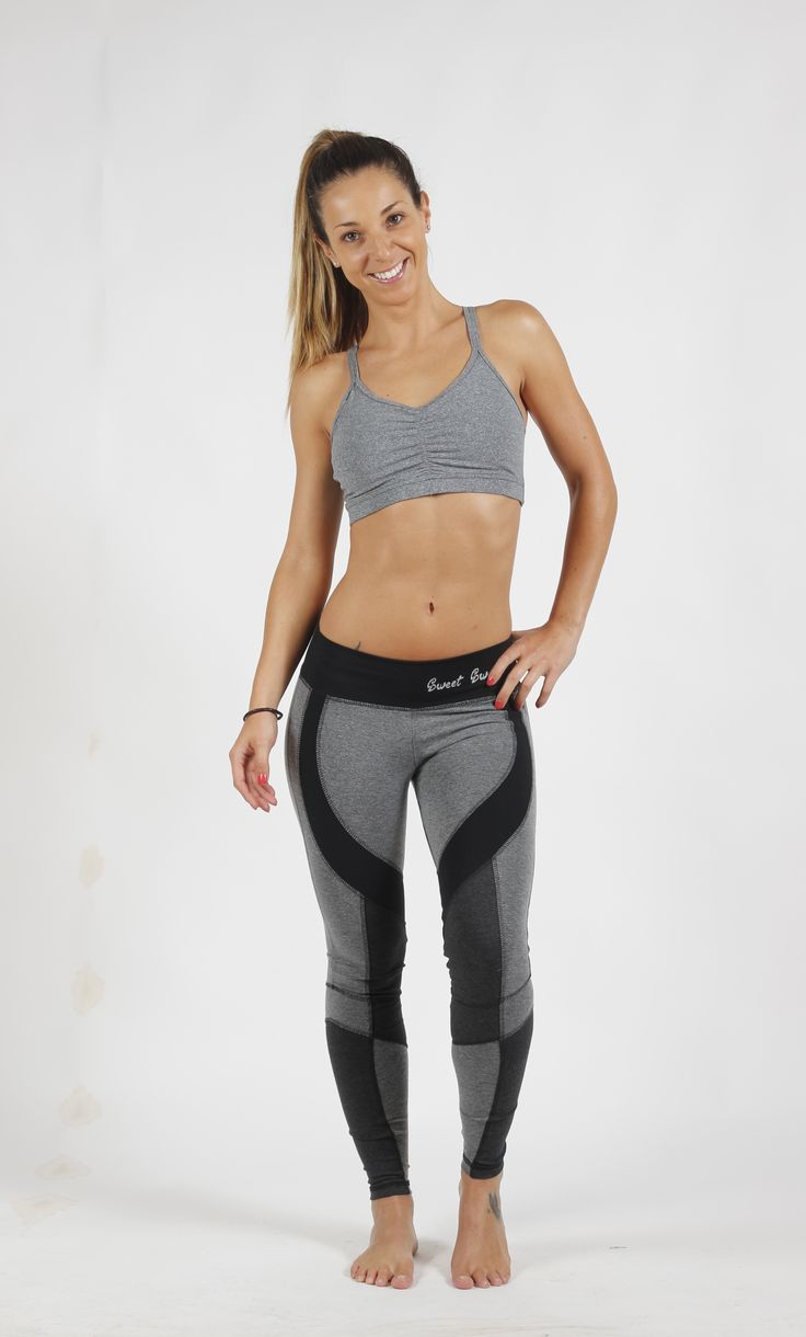Leggins Cortes Grises Sweet Sweat