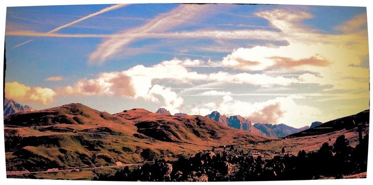 Tramonto e Nuvole - Dolomiti, Passo Sella