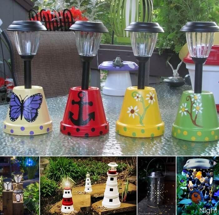 13 Diy Solar Lamp Ideas For Your Garden Solar Lamps Diy Solar Lights Diy Solar Lights Garden
